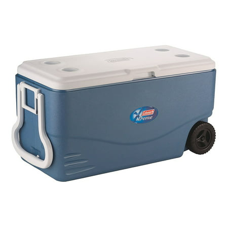Coleman 100-Quart Xtreme 5-Day Heavy-Duty Cooler with Wheels, Blue for $<!---->