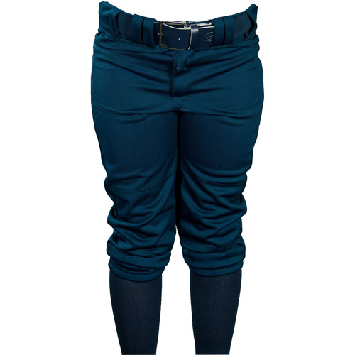 Louisville Slugger Girls' Slugger Fast Pitch OKC Low-Rise Pants with Belt Loops, Navy