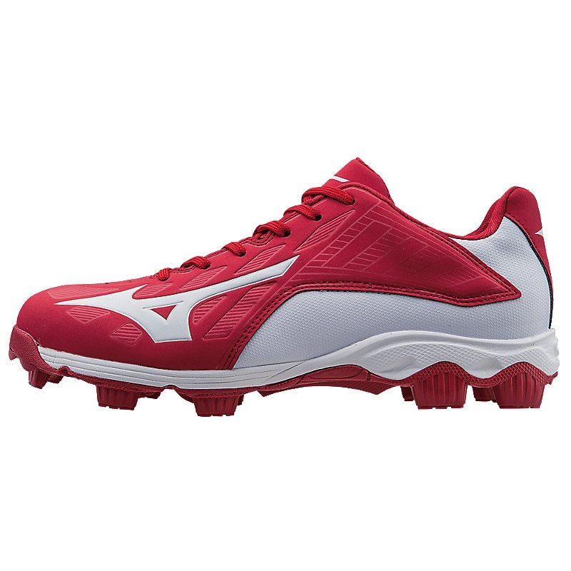 Mizuno 9-Spike Advanced Franchise 8 Molded Baseball Cleat - Low - Red/White - Size 11