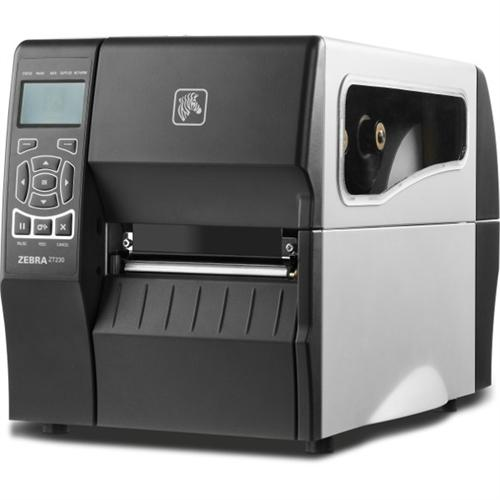 "Zebra ZT230, 4"", 203 dpi, Thermal Transfer, Tear, US Power Cord, Serial, USB, Internal Net Printserver 10/100"