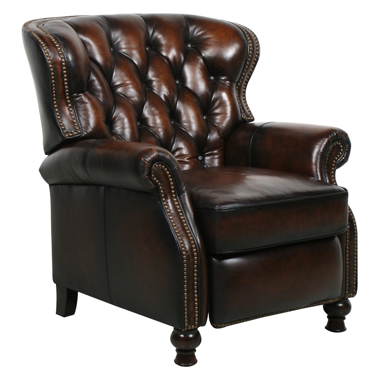 Barcalounger Presidential II Leather Recliner with Nailheads