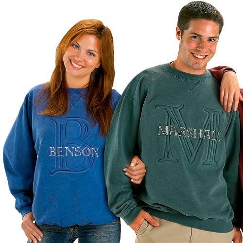 Personalized Embossed Sweatshirt