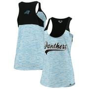 Carolina Panthers New Era Women's Space Dye Scoop Neck Racerback Tank Top - Black/Blue
