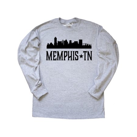 Memphis Tennessee City Skyline Long Sleeve T-Shirt