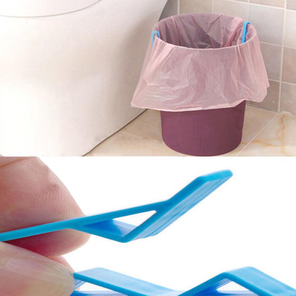 Garbage Bag Holder Practical Waste Basket Clamp Rubbish Anti-Slip Fixation Clip