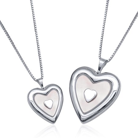 necklaces in v heart sterling you silver p locket i lockets love