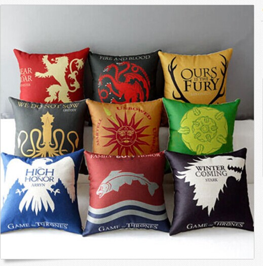 Pillow Cases Home Decorative Throw Car Sofa Seat Cushion Covers Thrones Games