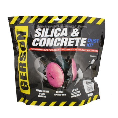Gerson 9357 Silica & Concrete Dust Respirator Kit with Filters (Large)