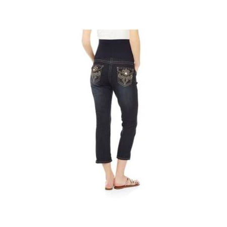 c9e95475f0fa0 Denim Diva - Denim Diva Maternity Full Panel Bling Fl - Walmart.com
