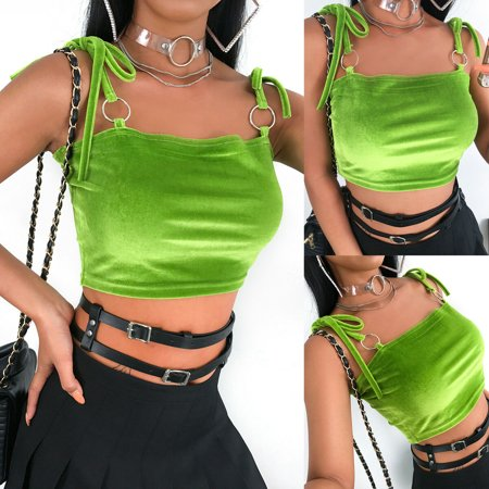 Summer Ladies Women's Sexy Sleeveless Shirt Casual Crop Tops Vest Tank Tops Sexy Clubwear Clothing ()