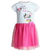 Disney Minnie Mouse Baby Girls Short Sleeve Dress Blue/Pink 24 Months