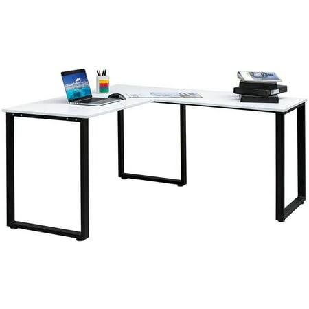 Merax 59 L Shaped Desk With Metal Legs Office Corner