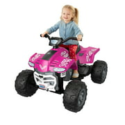 Fisher Price Power Wheels Battery Powered Electric Girls Car ATV Ride Toy, Pink
