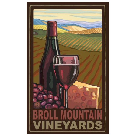 """Broll Mountain Vineyards California Wine Country Travel Art Print Poster by Paul A. Lanquist (12"""" x 18"""")"""