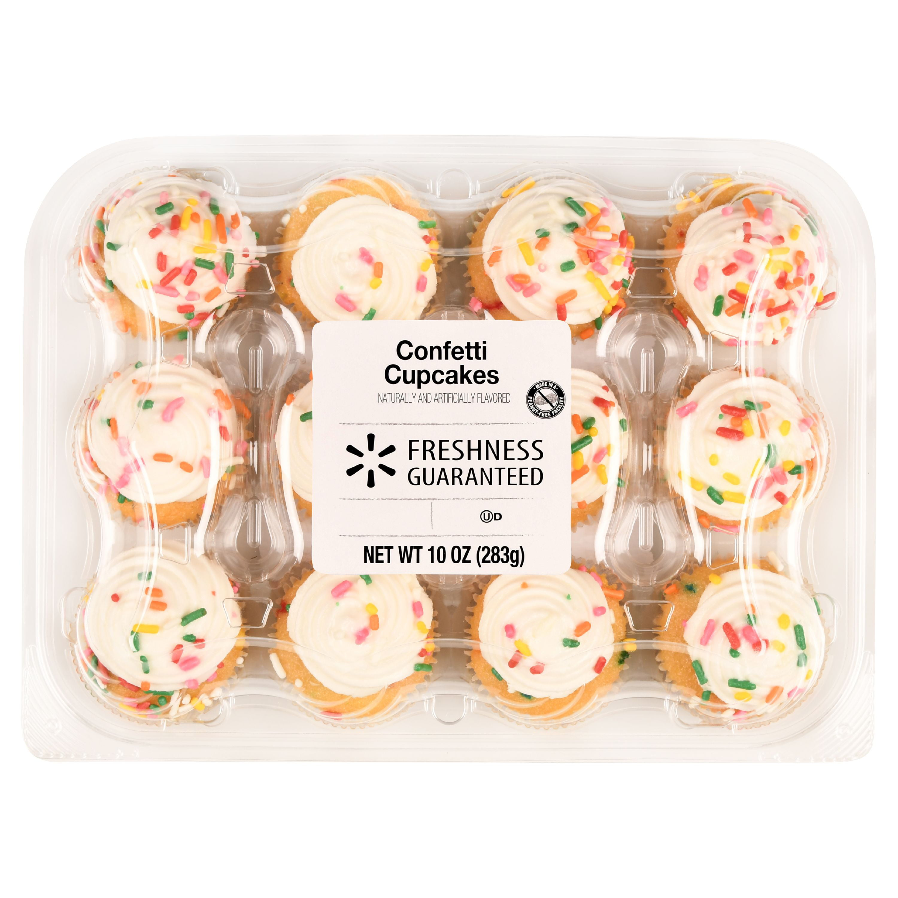 Freshness Guaranteed Confetti Mini Cupcakes 10 Oz 12 Count