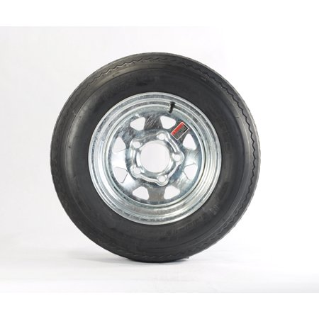 Trailer Tire On Rim 530-12 5.30-12 Galvanized Spoke 5 Bolt C Bias (5 On 5 1 2 Trailer Hub)