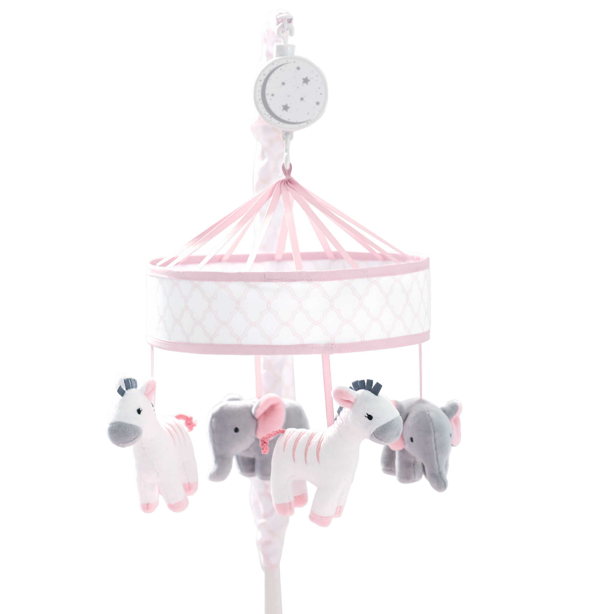 Just Born Dream Musical Mobile, Pink Grey White by Just Born