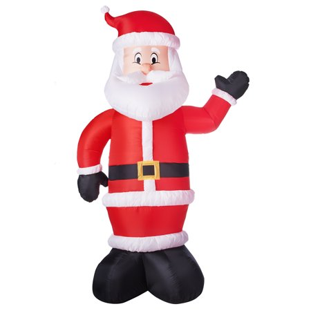 Gemmy Industries Airblown Inflatable Santa, 10'](Minion Christmas Inflatable)