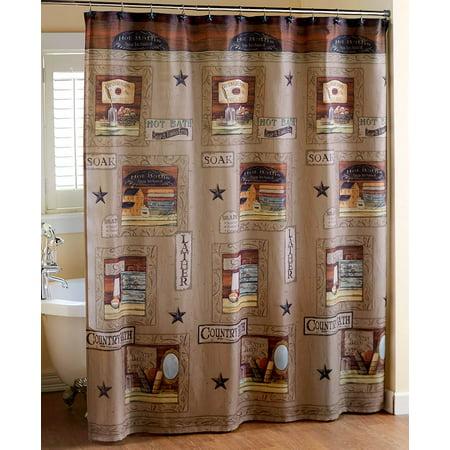 - Country Bath Shower Curtain -