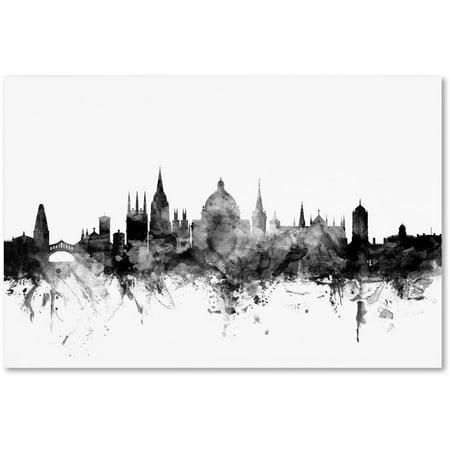 "Trademark Fine Art ""Oxford England Skyline B&W"" Canvas Art by Michael Tompsett"