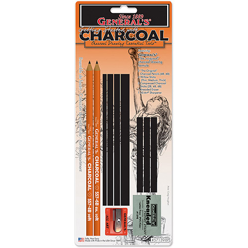 General Pencil Charcoal Drawing Essentials Tool Kit, 11 Pieces