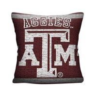 "NCAA Texas A&M University 20"" Square Decorative Woven Pillow by The Northwest Company"