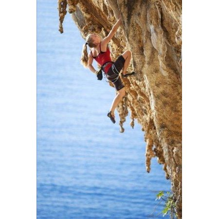 Female Rock Climber Journal: 150 Page Lined Notebook/Diary