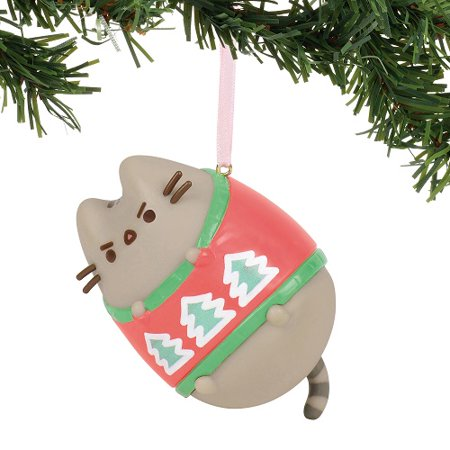 Enesco - Department 56 - Pusheen Ugly Sweater Hanging Ornament, 3-Inches - Ugly Ornaments