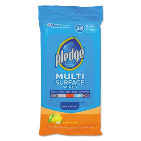 Multi-Surface Cleaner Wet Wipes, Cloth, Fresh Citrus, 7 X 10, 25/pack, 12/carton