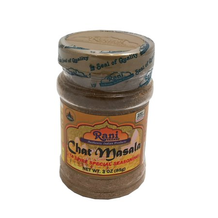 Rani Chat Masala (14-Spice Blend) Tangy Indian Seasoning 3oz (85g) ~ All Natural, No MSG! | Vegan | No Colors | Gluten Free Ingredients | NON-GMO | Indian Origin 85g Jar - Chat