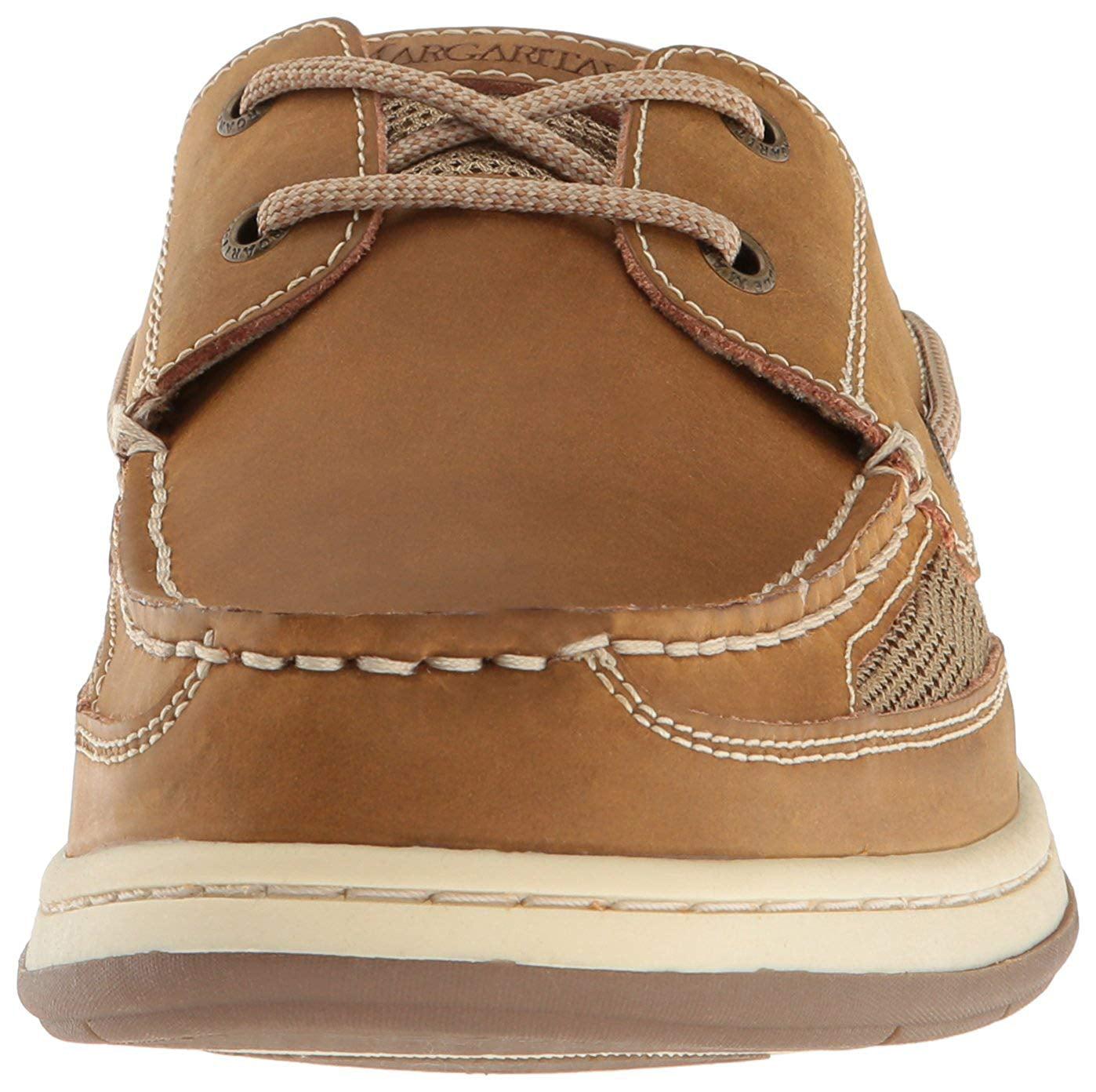5574c59fc246 Margaritaville Men's Size 11 Anchor Lace Boat Shoe, Light Tan