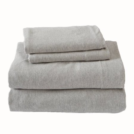 Union Rustic Matula Super Soft Heather Jersey Knit Solid Flannel Sheet Set