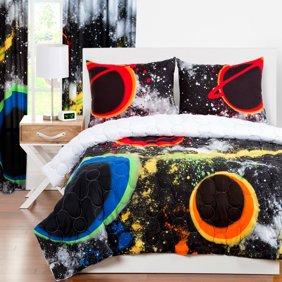 Crayola Neon Splat Paint Drip 3 Piece Comforter Set Walmart Com Walmart Com