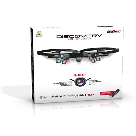 Udi 818A Hd Plus Rc Quadcopter Drone With Hd Camera  Return Home Function And Headless Mode  2 4Ghz 4 Ch 6 Axis Gyro Rtf Includes Bonus Battery Plus Power Bank