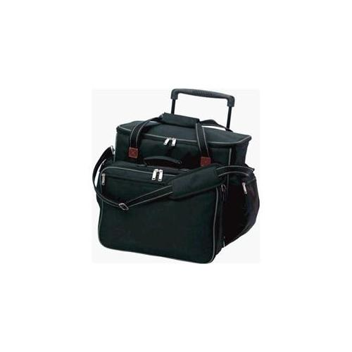 Picnic Plus PS4-446B Tailgater 4 Person Picnic Set On Wheels- Black
