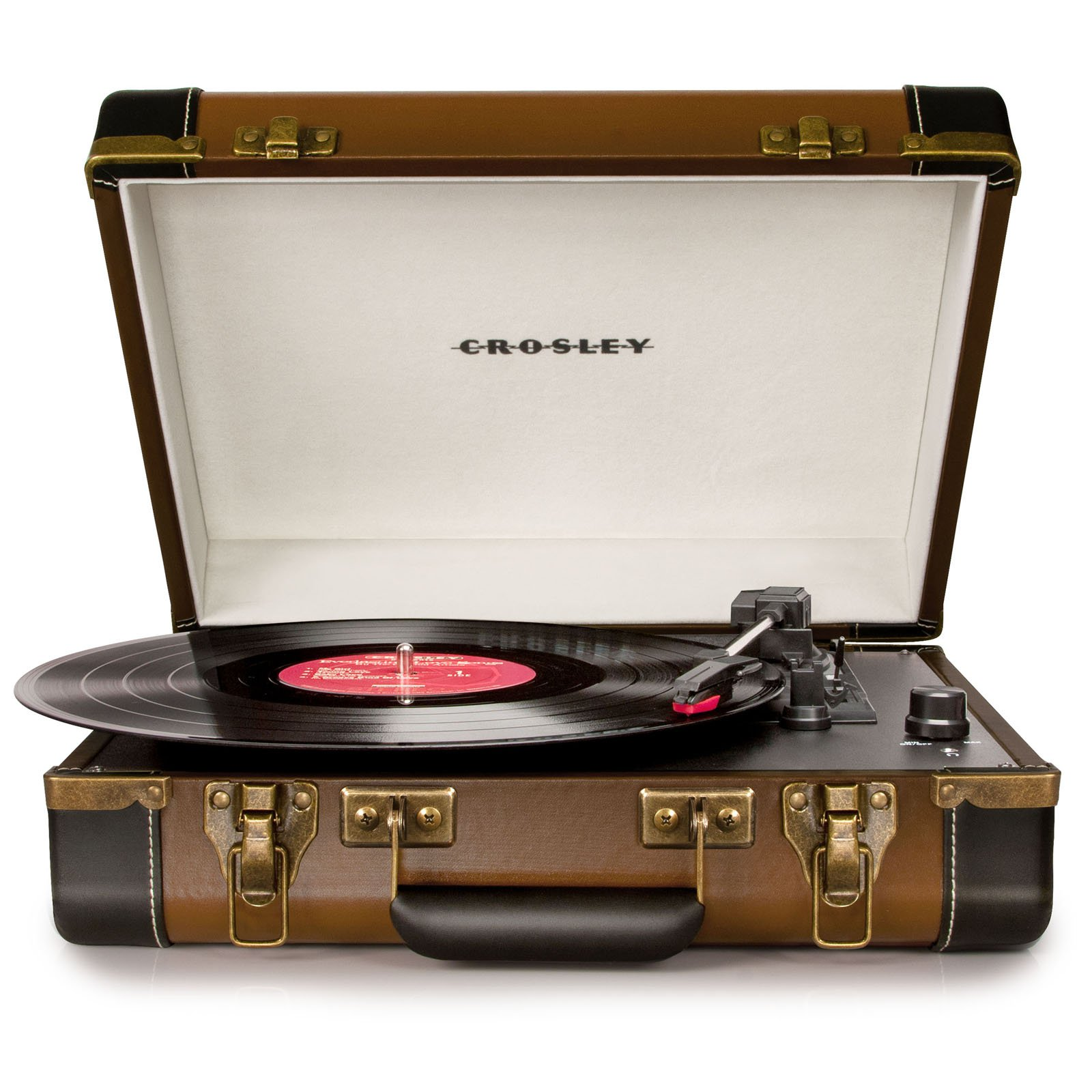 Crosley CR6019A-BK Executive Portable USB Turntable, Black