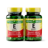 Spring Valley Vitamin E Softgels 400 IU, 100 Count, 2 Pack
