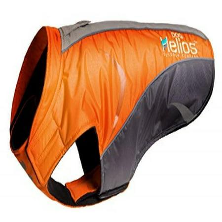 Helios Altitude Mountaineer Wrap Velcro Protective Waterproof Dog Coat W  Blackshark Technology  Orange  Charcoal Grey  Light Grey  Md