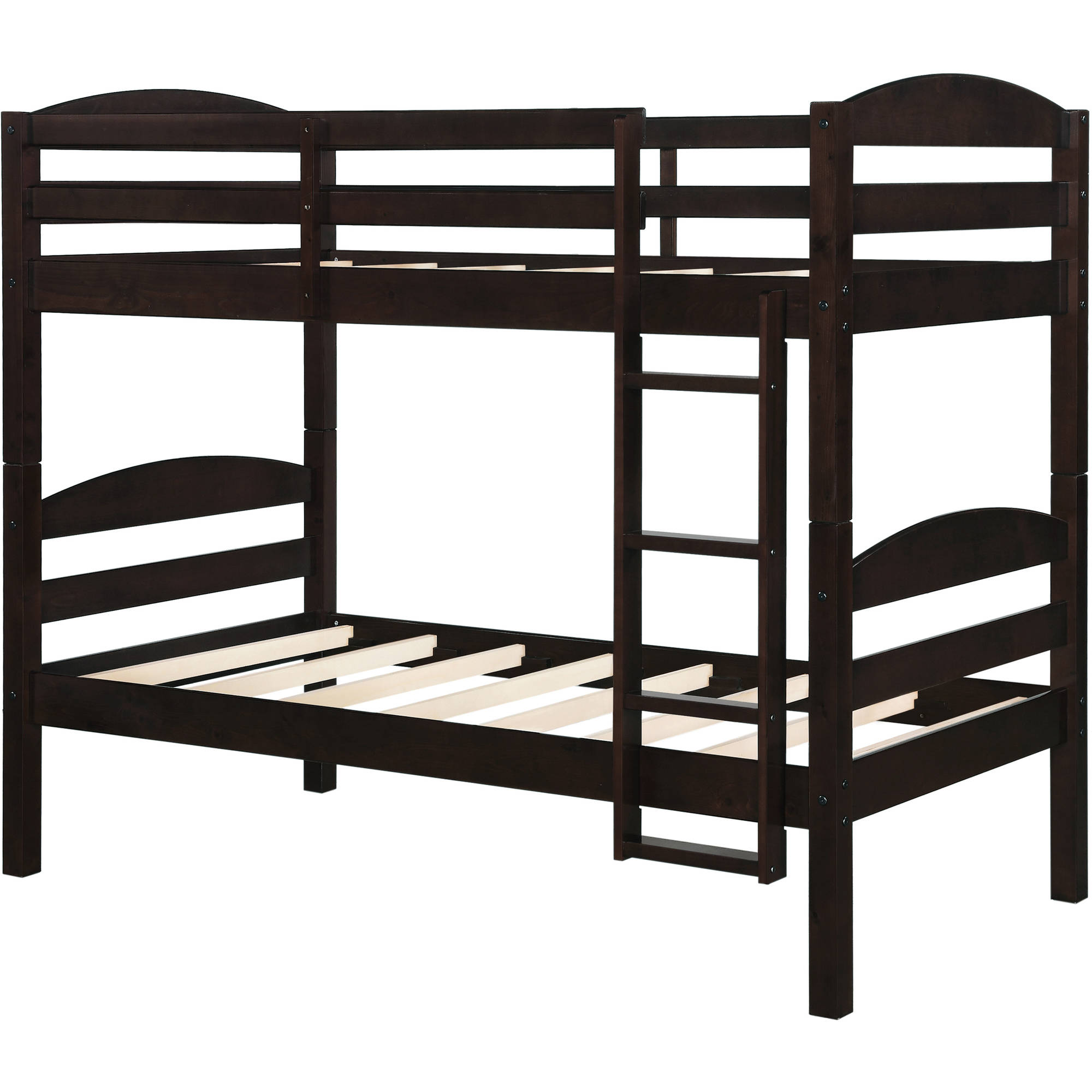 mainstays twin over twin wood bunk bed multiple finishes walmartcom