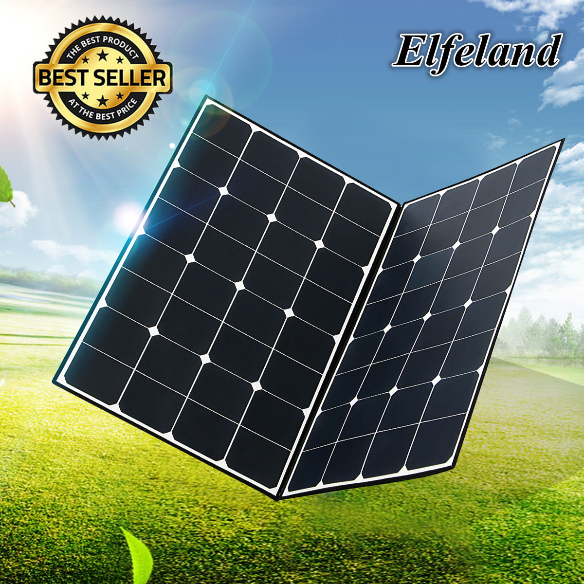 Elfeland 18v 160w Folding Monocrystalline Flexible Solar
