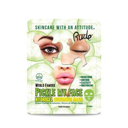 Hydrogel Face (RUDE Pickle My Face Hydrogel Cucumber Mask)