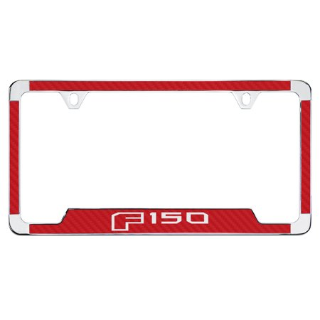 Ford F 150 Red Simulated Carbon Fiber License Plate Frame Holder ...