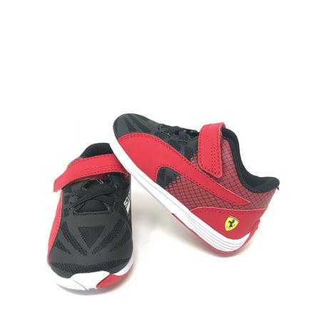 PUMA Evospeed Sf Velcro V Inf Sneaker (Toddler), Black/Rosso Corsa