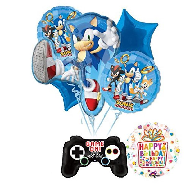 The Ultimate Sonic The Hedgehog Birthday Party Supplies And Balloon Decorations Walmart Com Walmart Com