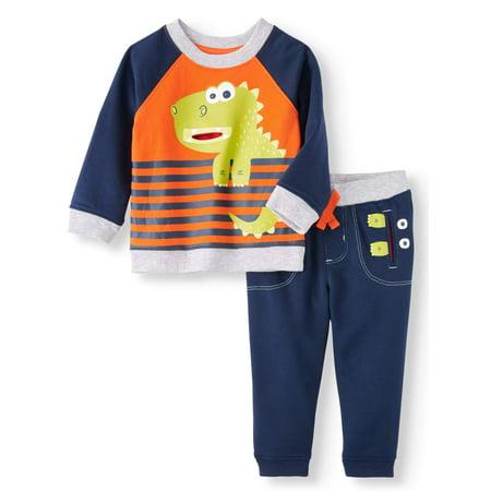 Wonder Nation Interactive Sweatshirt & Jogger Pants, 2pc Set (Baby Boys) (Flash Outfit)