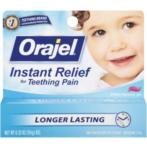 Baby Orajel Cherry Flavored Gel 0.33 oz (Pack of 4)