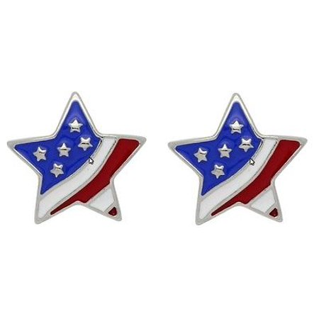 Snap button star flag  metal snap buttons fit Ginger snap 18mm