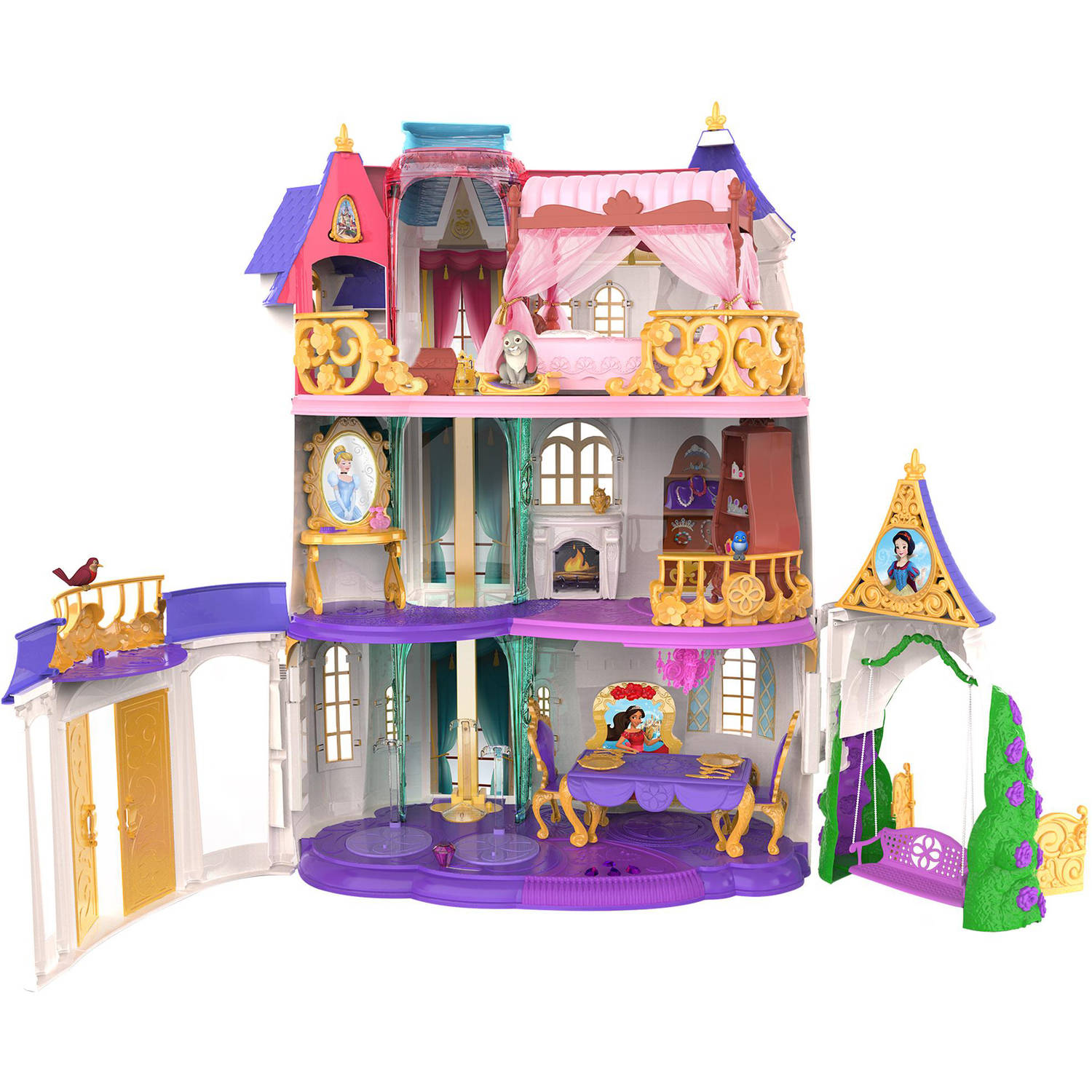 Toy Castle Playset Girls Kids Doll House Cartoon Character Princess