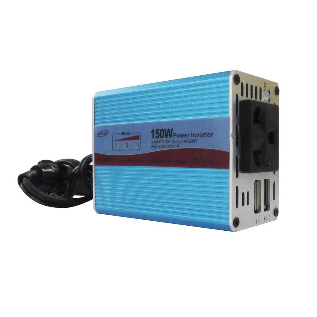 IF-150D Blue Modified Sine Wave Power Inverter DC 12V to AC 220V 110V 150W