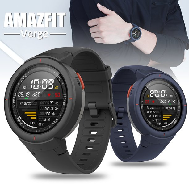 1.3 inch Amazfit Verge Multi-function Touch Screen IP68 Waterproof Smart Watch Multi-sport Modes,Music Player,Sedentary Reminder,Camera Remote Control, Anti-lost
